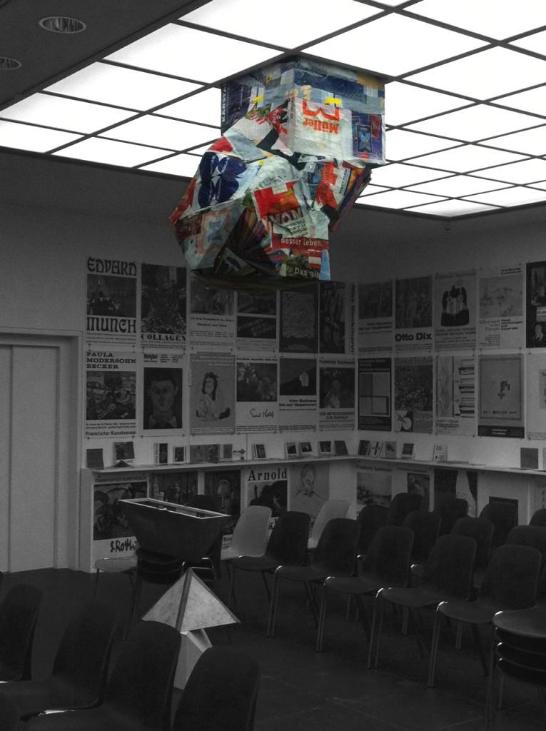 Prototype for projector housing in light ceiling, Frankfurter Kunstverein