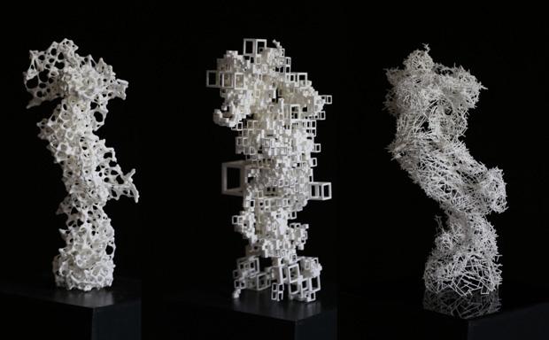 3D printed sculptures - photograph by Ragunath Vragunath